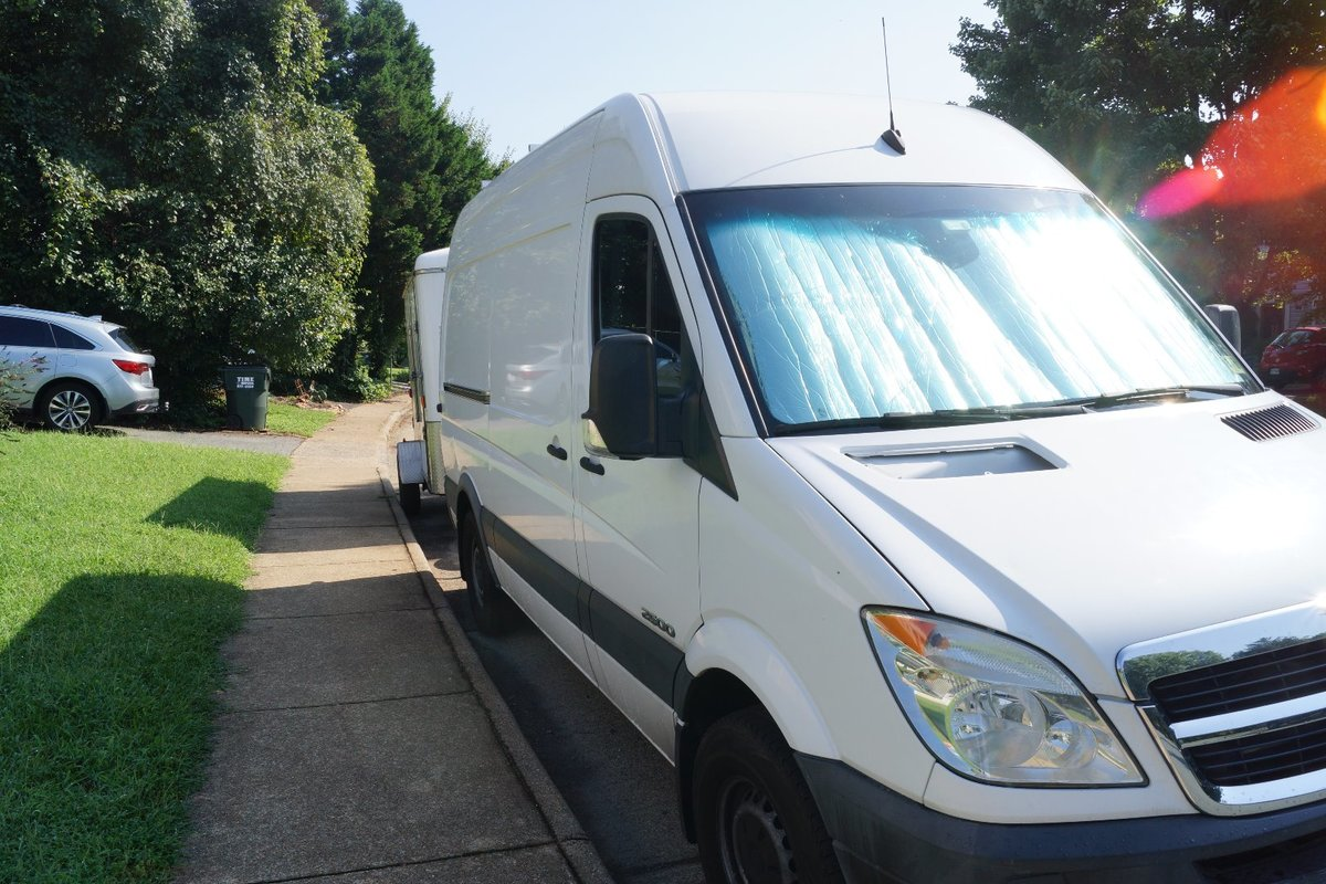2007 Dodge Sprinter 2500 Diesel RV Conversion Van White, 1