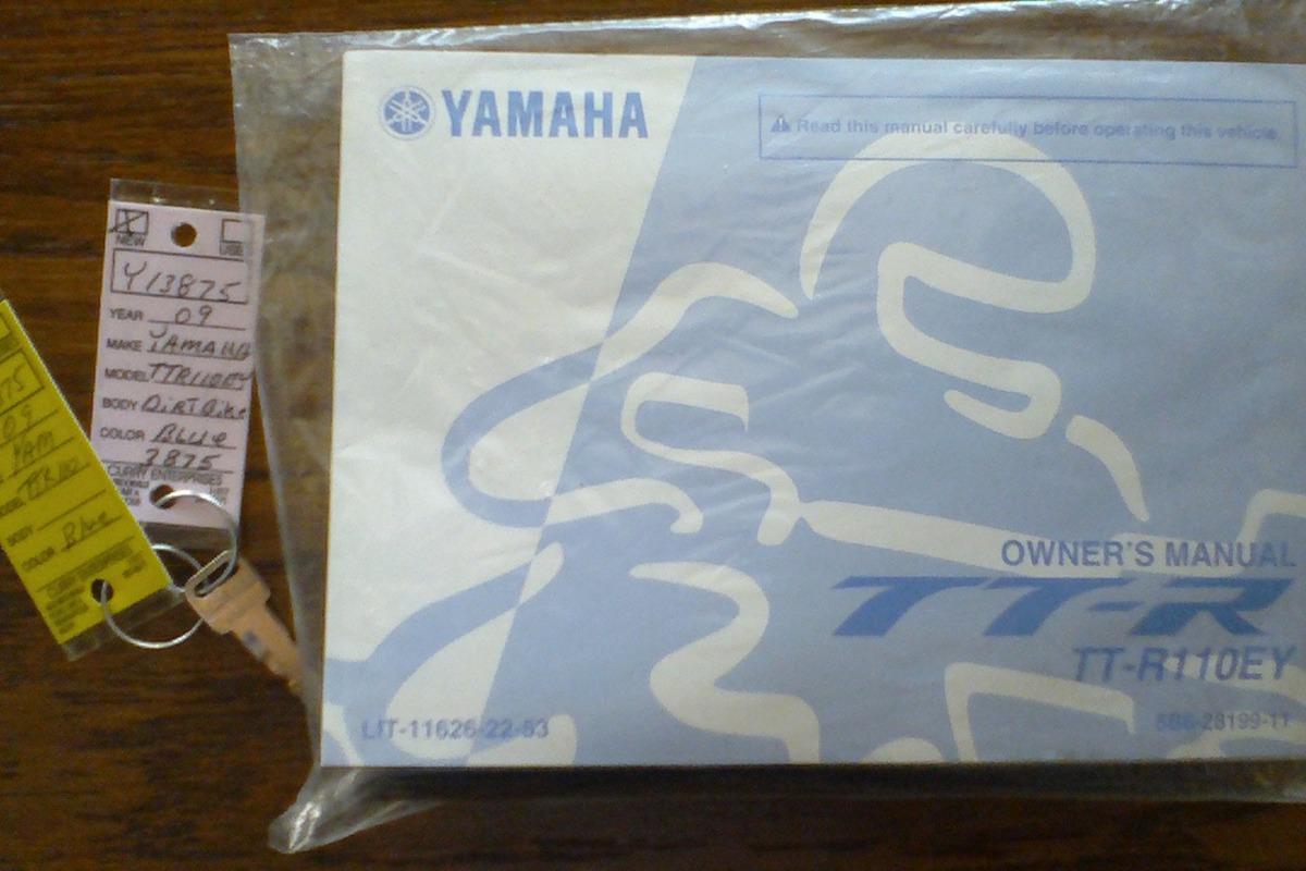2009 Yamaha TT-R110EY, 0