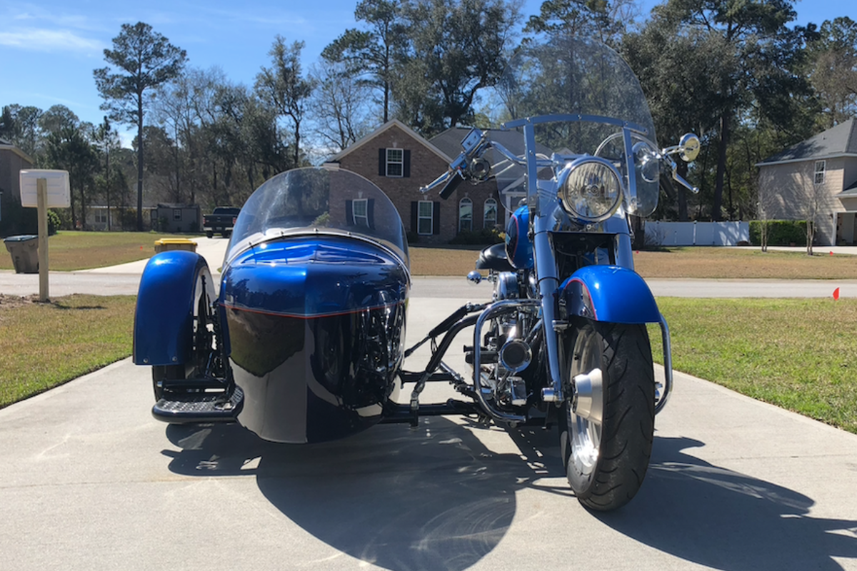 1994 Harley Davidson Fatboy with Custom Sidecar, 0