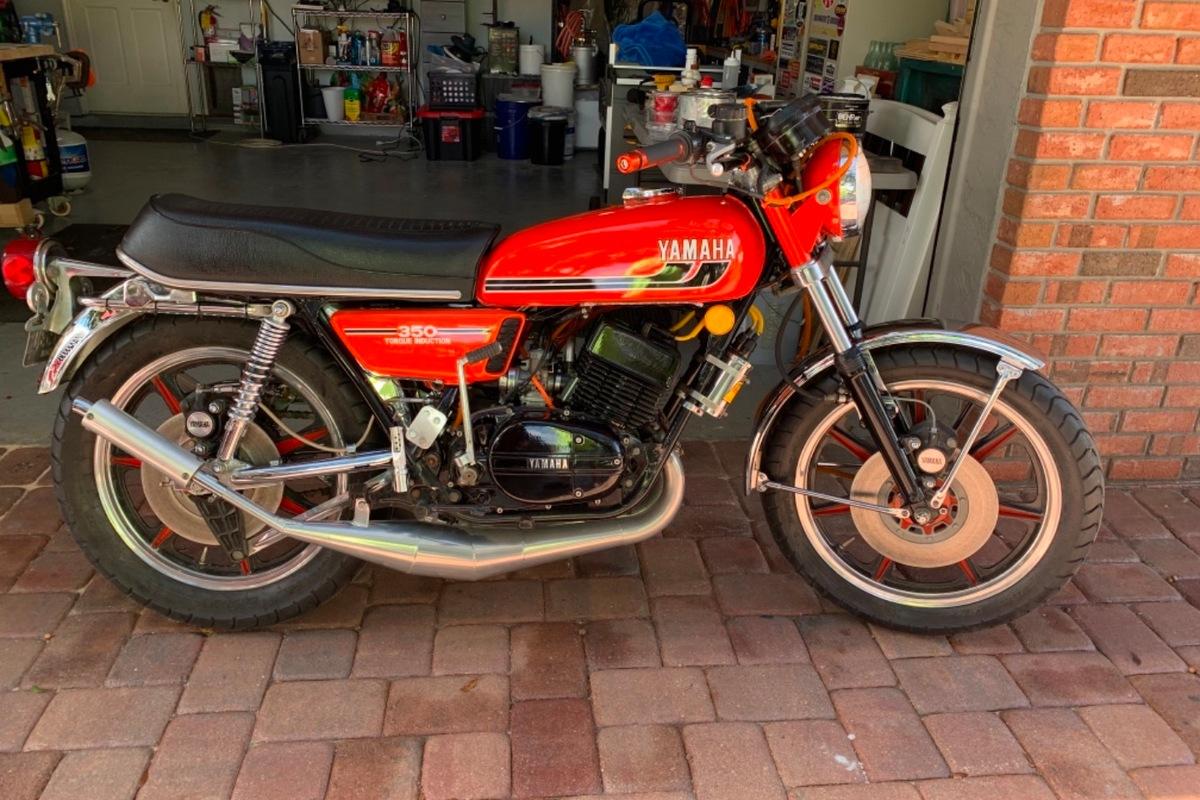 1975 Yamaha RD 350, 4
