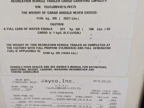2014 Jayco Eagle Premier 375 BHFS