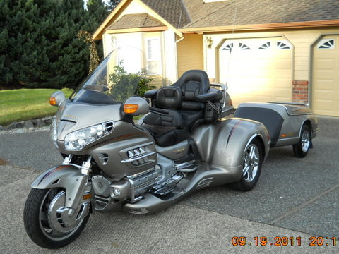 2003 Honda 1800 Gold-wing Trike and Matching trailer