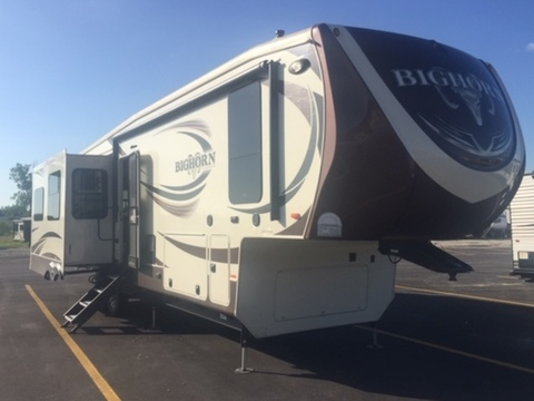 2015 Big Horn 3585RL Triple Slide Fifth Wheel