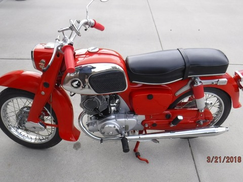 1966 Honda CA95 150cc Benly Touring