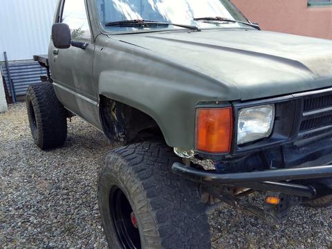 1985 Toyota Pickup rhinolined