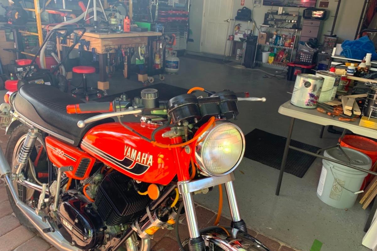 1975 Yamaha RD 350, 3