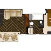 2014 Heartland Gateway 3300 ML Tan White Brown, 1