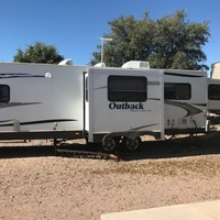 2011 Keystone Outback 280RS white, 1